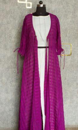 Purple indo-western jacket